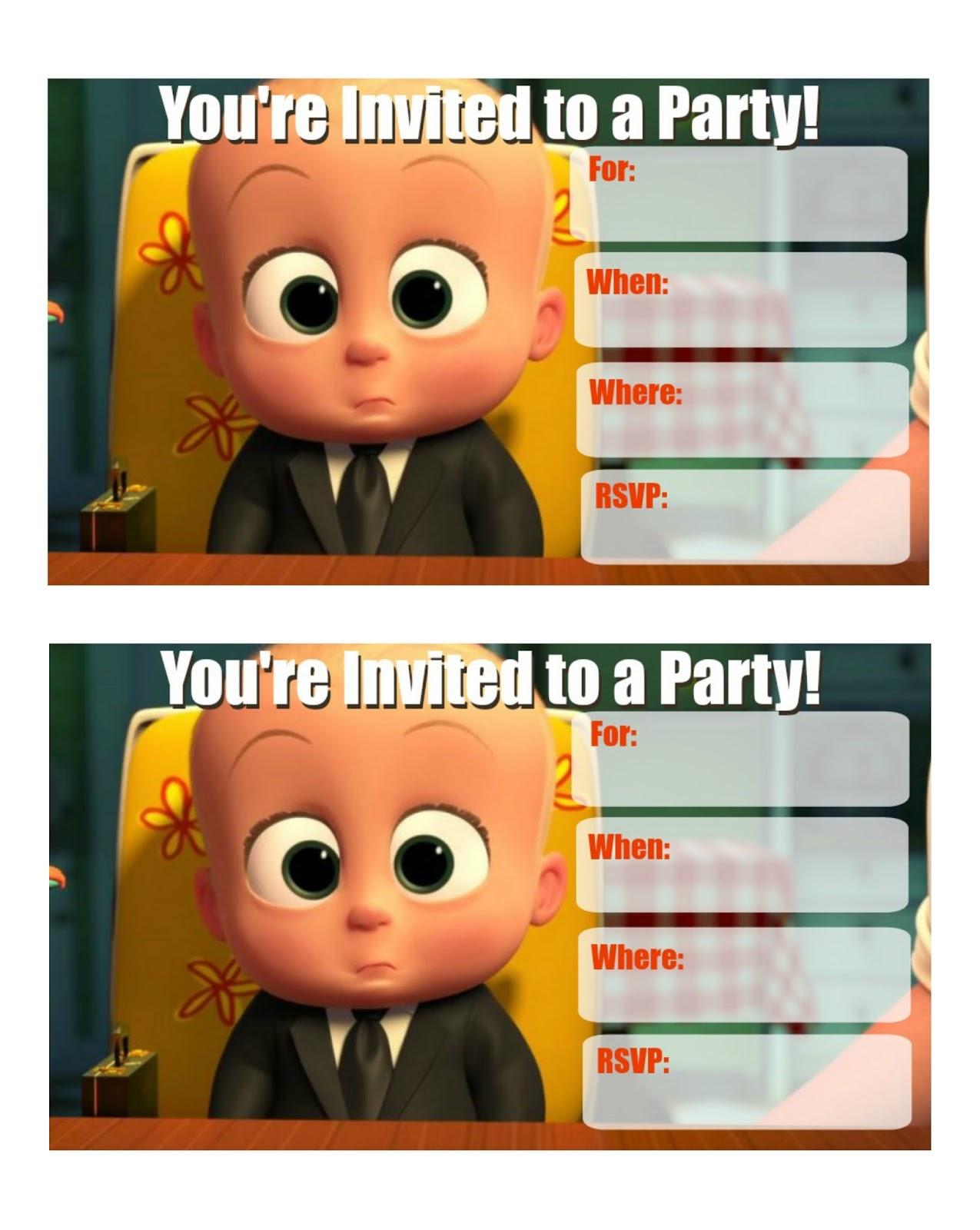 Musings Of An Average Mom Boss Baby Invitations