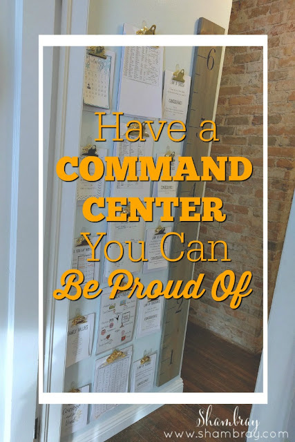 A space space is all you need for a family command center if you want to be more organized.