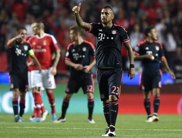 Grâce à son but superbe, Arturo Vidal a remis le Bayern sur les rails mercredi face à Benfica