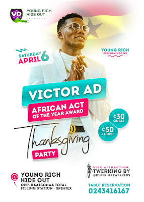 WATCH FULL PERFORMANCE OF VICTOR AD THANKSGIVING PARTY AT YOUNGRICH HIDEOUT ( Watch Full Video)