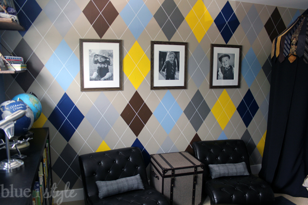 Argyle feature wall