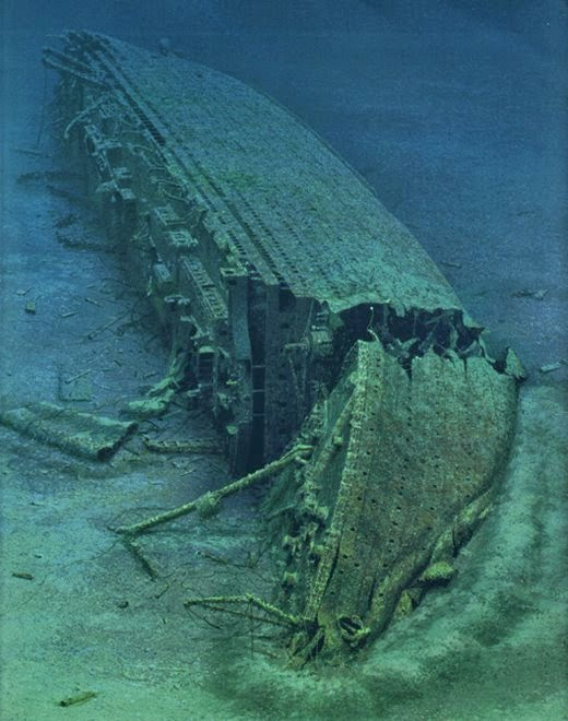 Ocean Superliners Artist Rendition Of The Wreck Of Rms