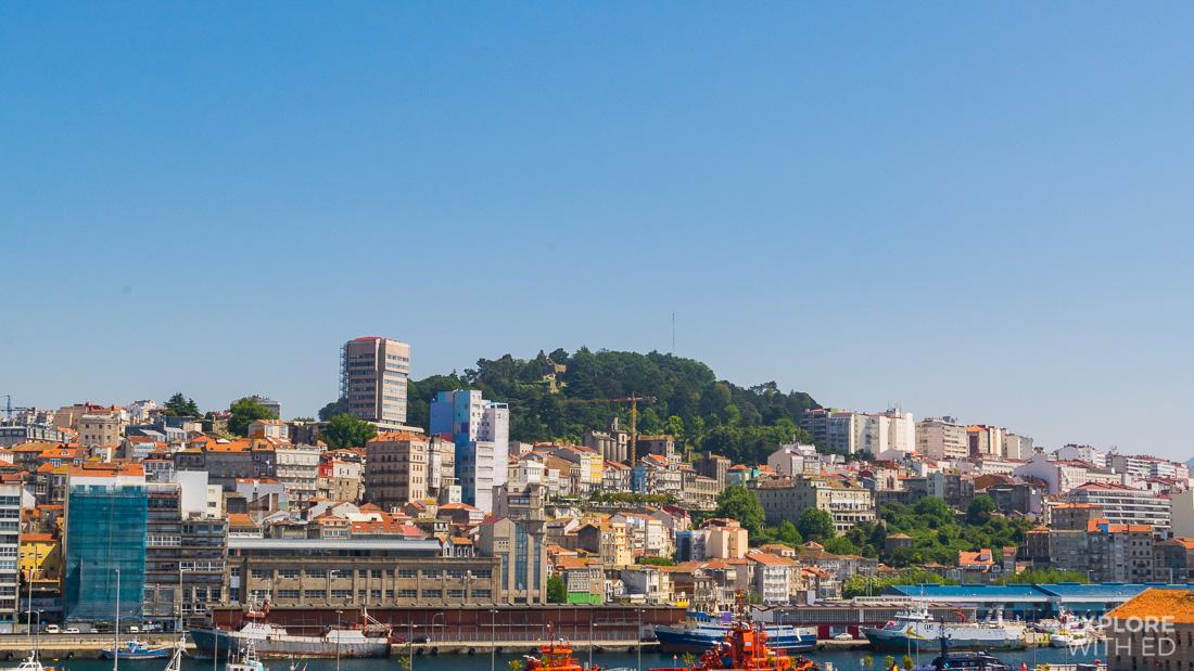 View of Vigo from cruise ship