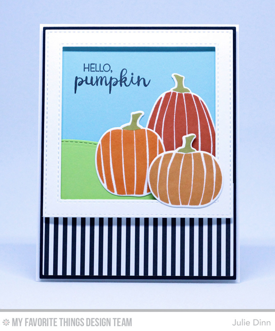Handmade card from Julie Dinn featuring Lisa Johnson Designs Spooky Sweets stamp set and Die-namics, Stitched Valley, Stitched Square Frames, Blueprints, 1, and Blueprints 2 Die-namics #mftstamps