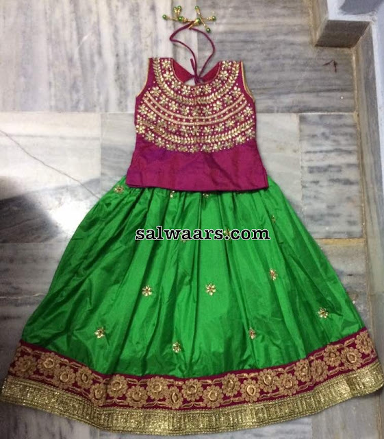 Kids Silk Lehenga with Duppatta