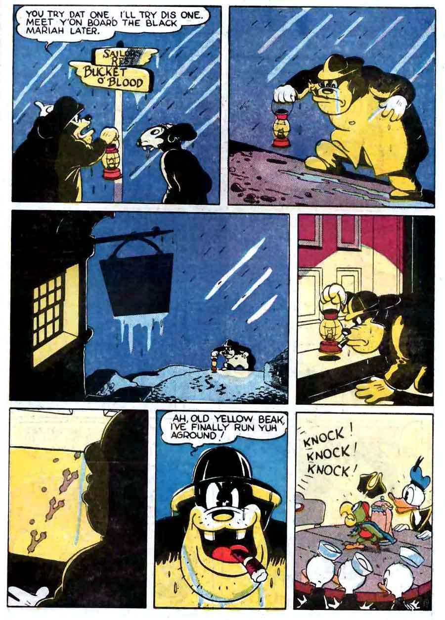 Donald Duck Four Color Comics #9 - Carl Barks 1940s dell comic book page art