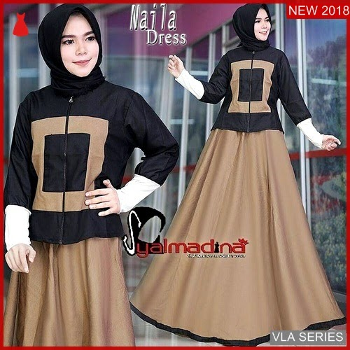 VLA102N121 Model Dress Naila Bl Murah BMGShop
