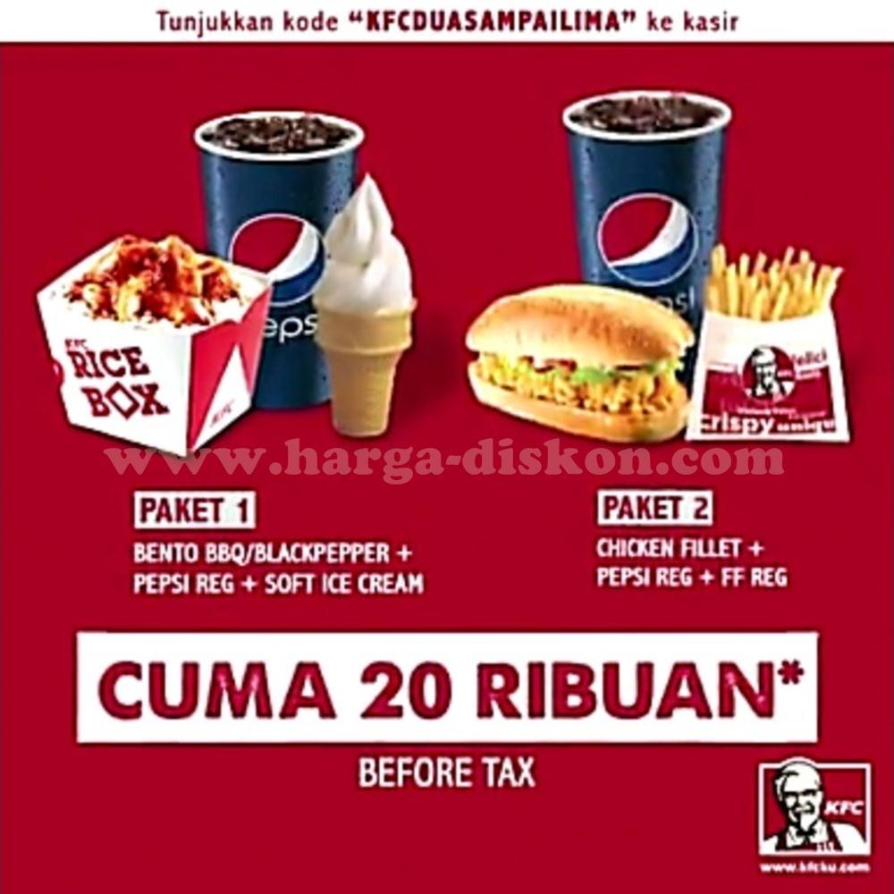 Paket Kfc Happy Hour Hanya Rp20 Ribuan Periode 16 Oktober 31 Desember 2017 Harga Diskon