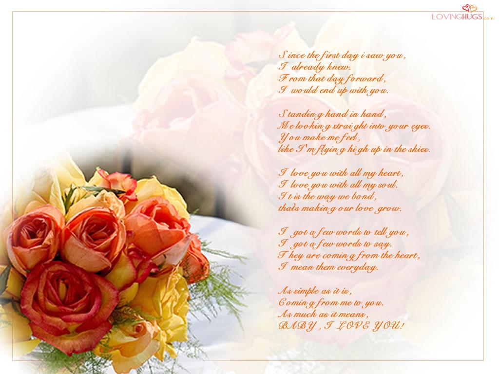 Free Wallpaper Dekstop: I Love You Poem Wallpaper, I Love