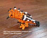 Удод. Схема плетения птицы из бисера