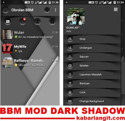 BBM Mod Dark Shadow Versi 3.0.0.18 Apk