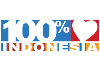 Logo 100% indonesia Vector