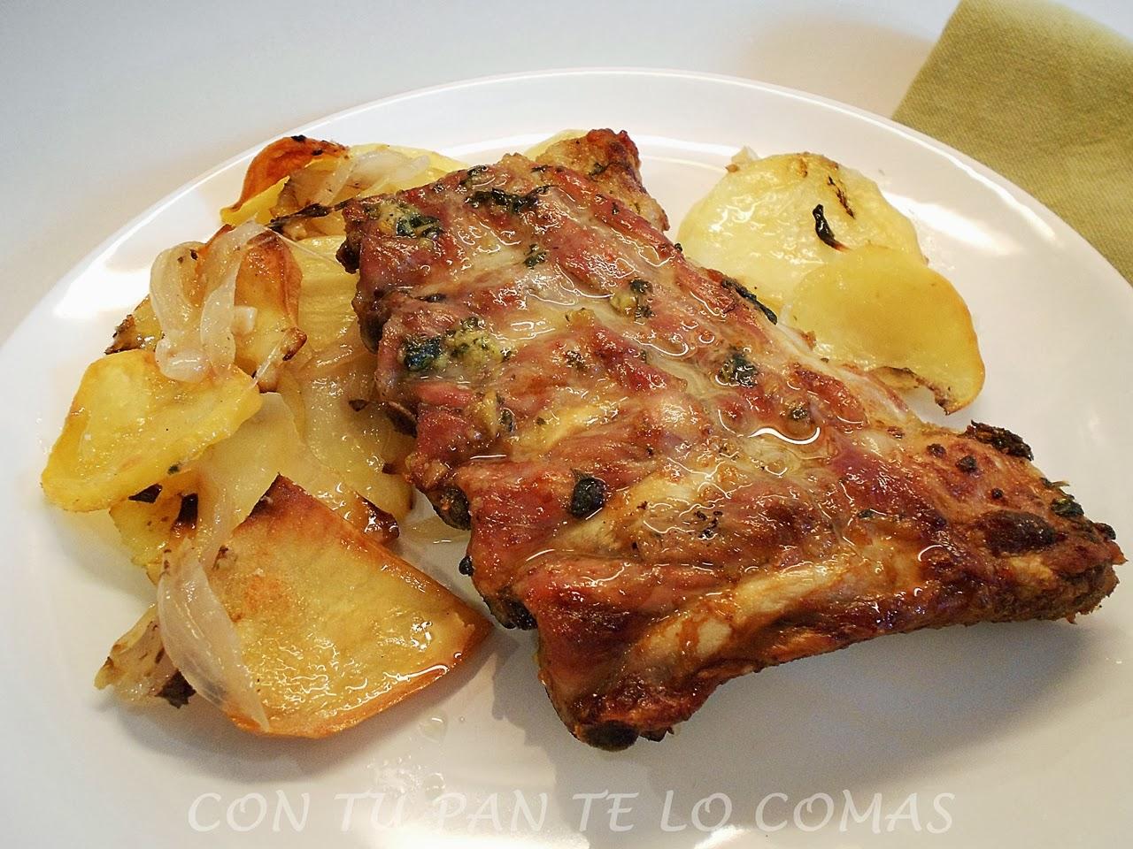 Con tu pan te lo comas costillas de cerdo al horno - Patatas con costillas de cerdo ...