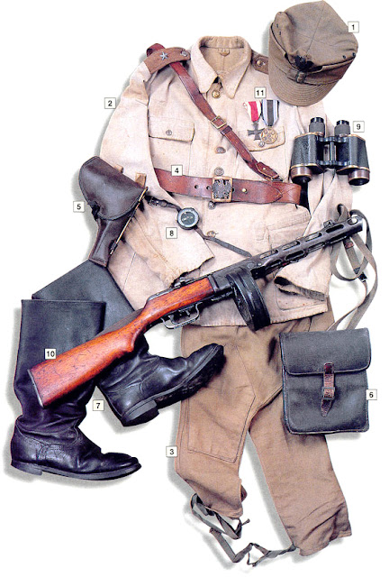 WW2 Military uniform uniform - 2nd Lt, 1st Infantry Division, Polish People's Army (USSR) 1943