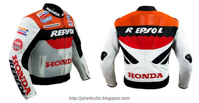 Gambar Jaket Kulit Honda Repsol