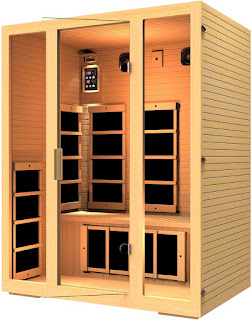 JNH Lifestyles MG301HCB Joyous 3 Person Canadian Hemlock Wood Sauna with 8 Carbon Fiber FAR infrared Heaters, image, review features & specifications