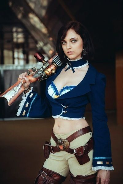 women's video game steampunk costume - elizabeth from BioShock Infinite & burial at sea - women's sexy steampunk video game costumes. for gamers.
