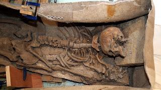 La pieza arqueológica hallada en pleno centro de la ciudad de Granada ha sido datada entre los siglos II y IV