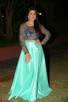 Nikki Galrani in Green Skirt  Top at Marakathamani music launch ~  Exclusive (125).JPG