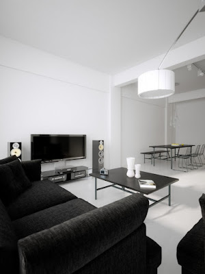 Design de interiores mix de preto e branco