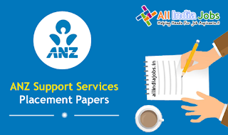 ANZ Support Services Placement Papers