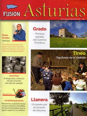 Portada revista Asturias Fusión, Febrero 2018