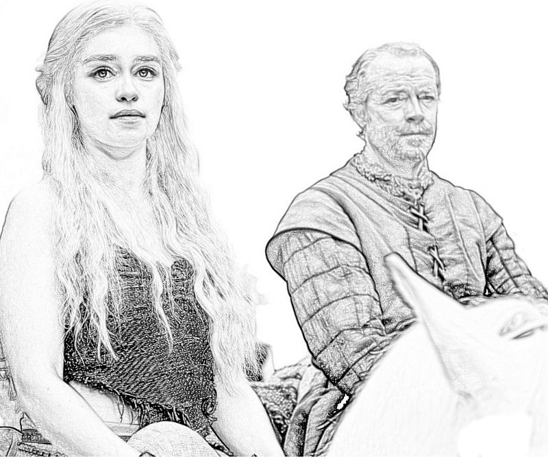 game of thrones coloring book pages colored - photo #47
