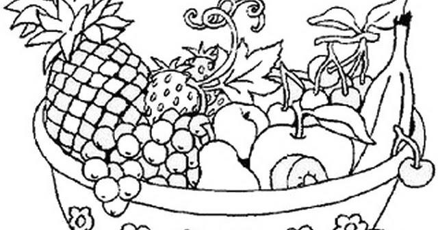 Bodegones Para Colorear Y Pintar Dibujo De Frutas Y Verduras Para