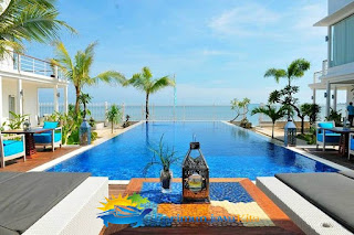 swimming pool ocean view