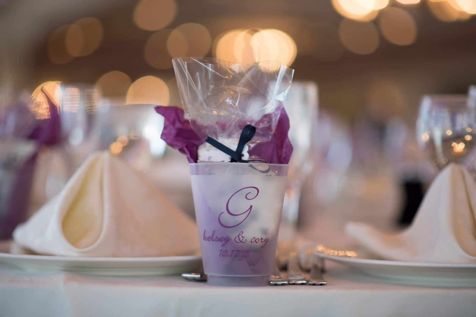 Personalized Cups with Cookie Favors