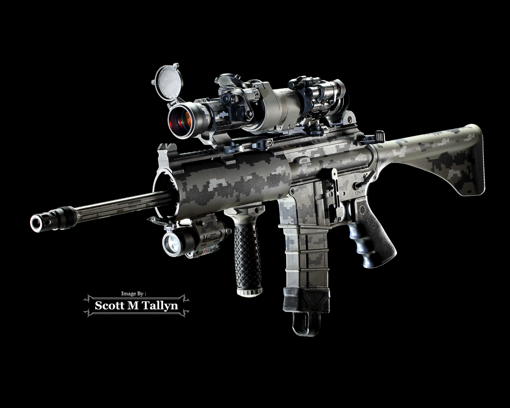 Gunshots Photography Prof Ordnance Carbon Ar 15 Rifle