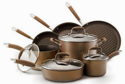 Anolon Bronze Hard Anodized Nonstick 11-Piece Cookware Set