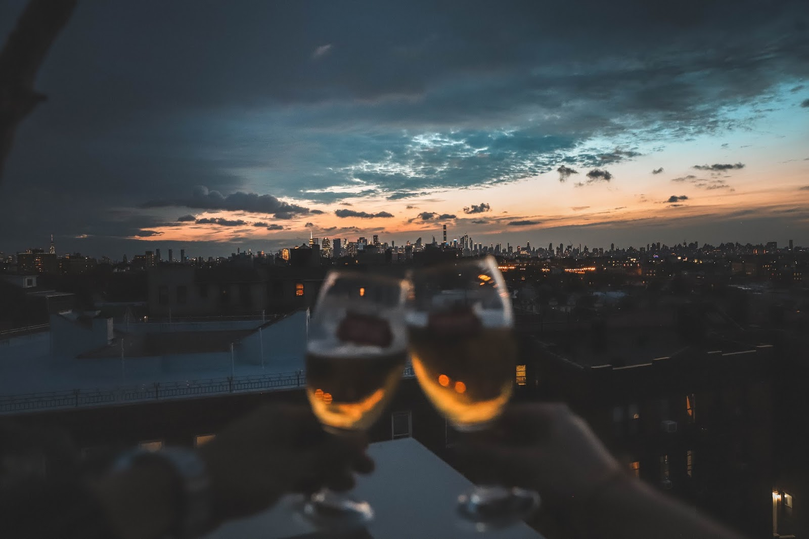 Stella Artois Cheers on NYC Rooftop Sunset