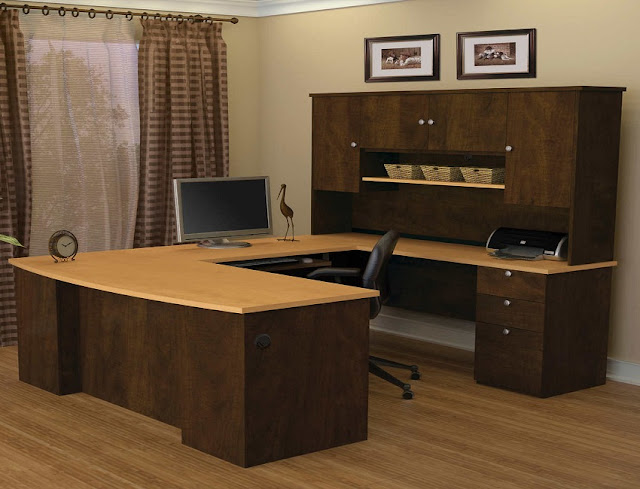 best buy Costco office furniture desk u shaped with hutch for sale