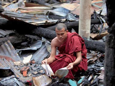 Buddhist Temples Burnt like nothing