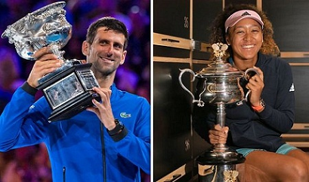 Novak Djokovic, Naomi Osaka current champions of Australian Open 2019. Full List of Winners.