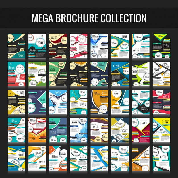 Mega business brochure collection Free Vector