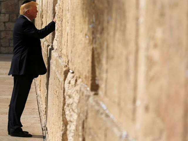 Donald Trump Praying At Jerusalem's Western Wall