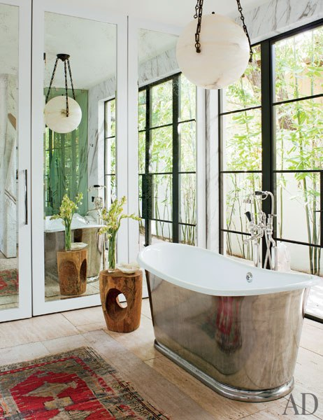 Interior Envy Jenni Kayne's L.A. Home French Bathtub