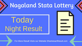 Nagaland State Lottery 12/04/2019 Dear 8.Pm Result Download