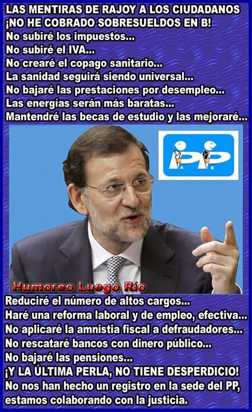 Mariano Rajoy y su franqueza al hablar