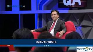 Metrotvnews menghadirkan Yusril Ihza Mahendra di acara Q & A - Zig Zag (Question & Answers - liku-liku) pada Rabu (5/12/2018).