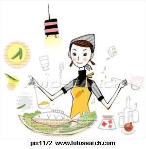 Gambar Kartun Memasak Di Dapur Desainrumahid