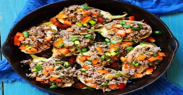 Eggplant Omelet Boats Recipe