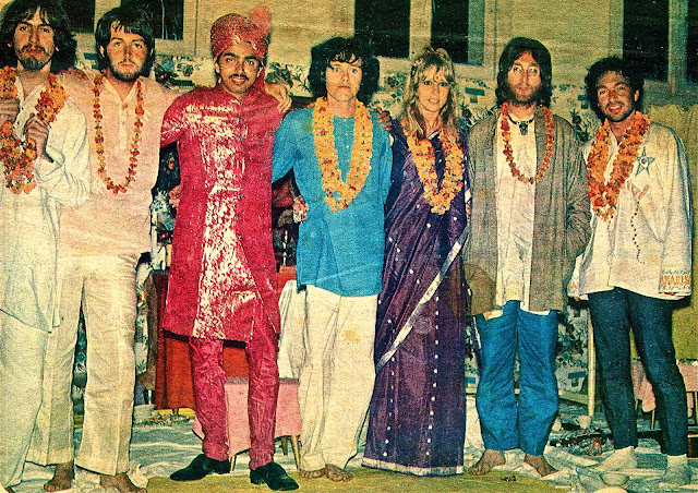 Image result for beatles  maharishi donovan