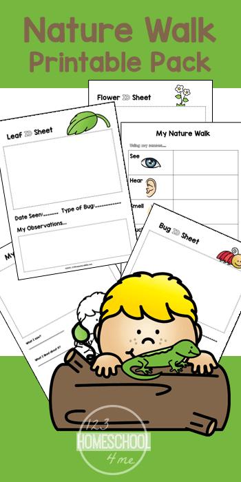 free nature walk worksheets for kids