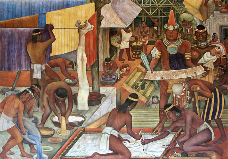 Murals of the History of Tarascans, Mexico
