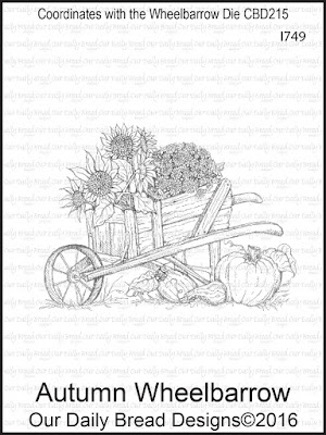 Our Daily Bread Design Stamp: Autumn Wheelbarrow