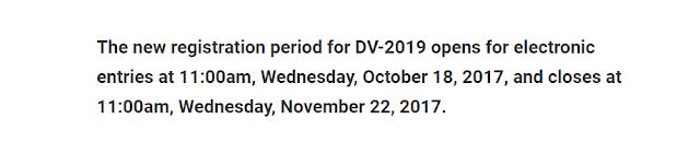 كل من تسجل في القرعة الأمريكية 2019 تم رفض طلبه وهذا موعد التسجيل الجديد