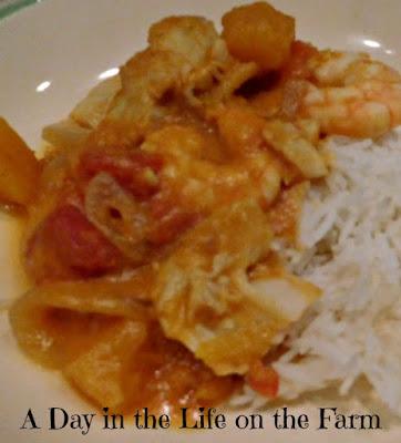Pumpkin Seafood Curry